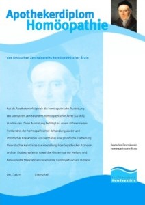 Homöopathie-Diplom Apotheker