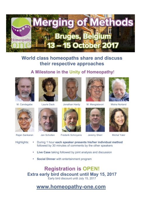 Homeopathy One Conference – Merging of Methods